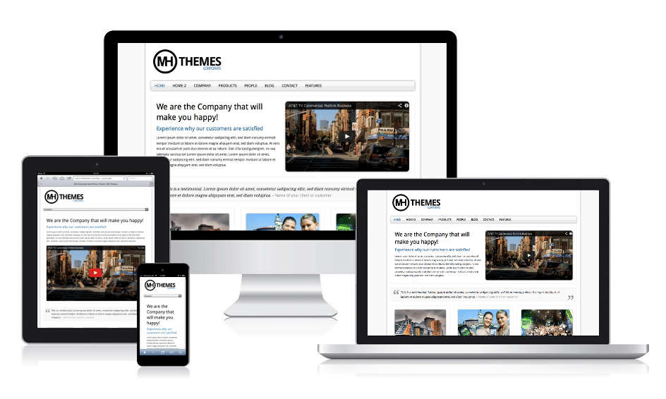 MH Corporate Responsive WordPress Theme