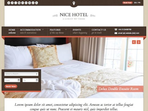 Nice Hotel WordPress Theme