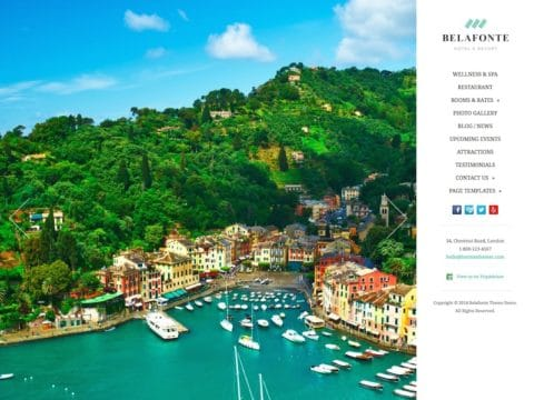 Belafonte Hotel WordPress Theme