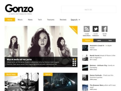 Gonzo WordPress Theme