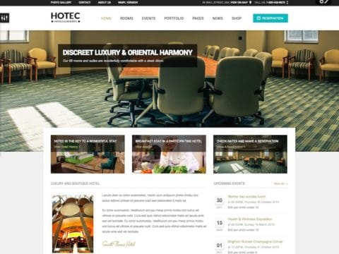 Hotec Hotel WordPress Theme