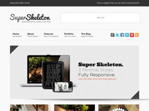 SuperSkeleton Magazine WordPress Theme
