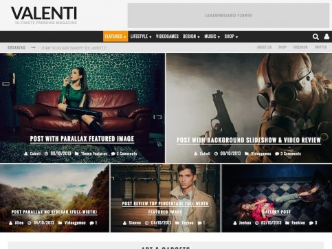 Valenti Magazine WordPress Theme