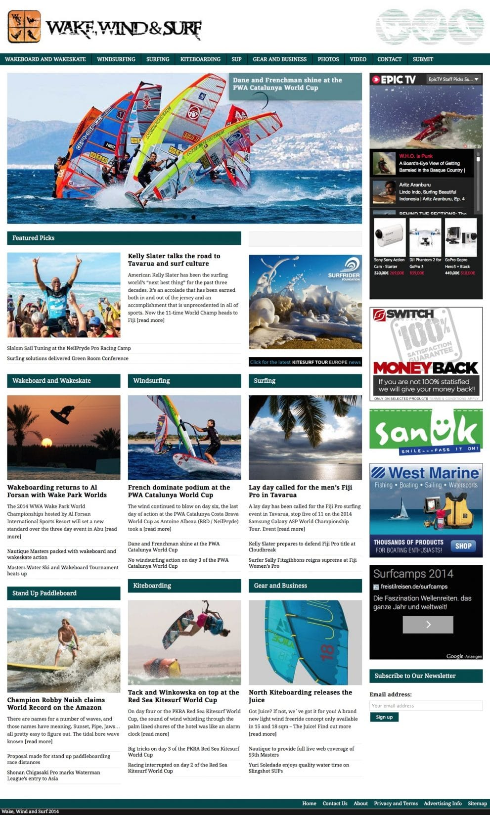 Wake, Wind & Surf News
