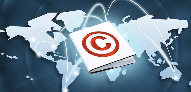 Copyright notice on WordPress website