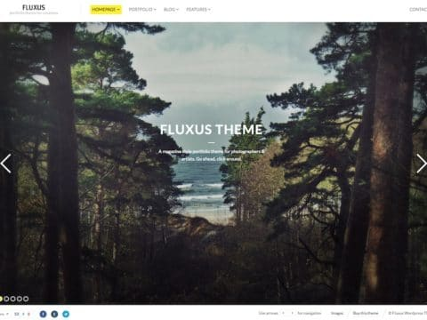Fluxus Photography WordPress Theme