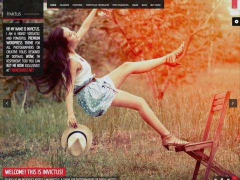 Invictus Photography WordPress Theme