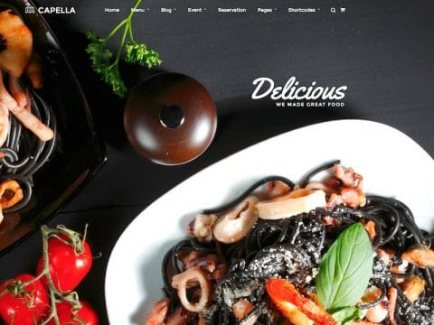 Capella Restaurant WP Theme