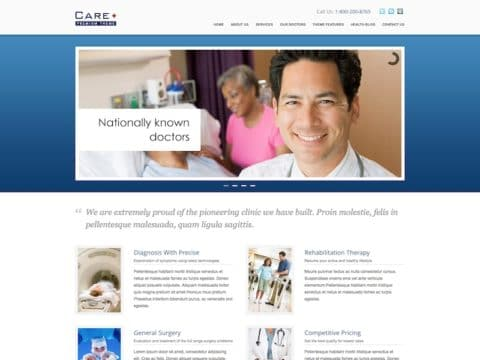 Care Medical WordPress Theme