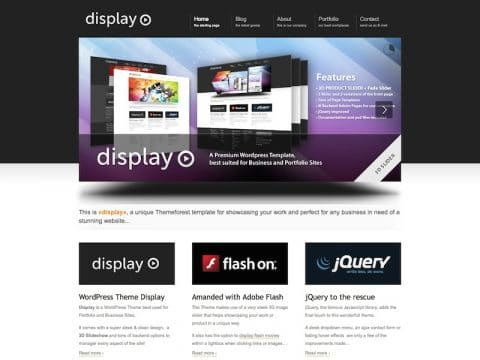 Display Portfolio WordPress Theme