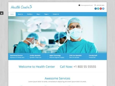 Healthcentre Medical WordPress Theme