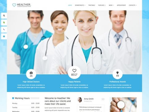 Healther Medical WordPress Theme
