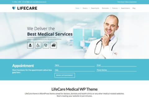LifeCare Medical WordPress Theme