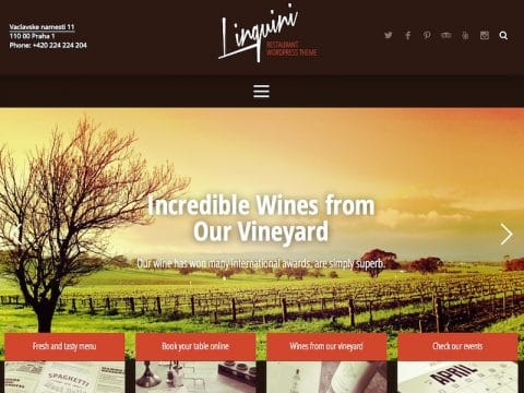 Linguini Restaurant WP Theme