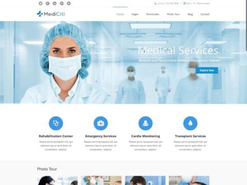 MediCiti Medical WordPress Theme