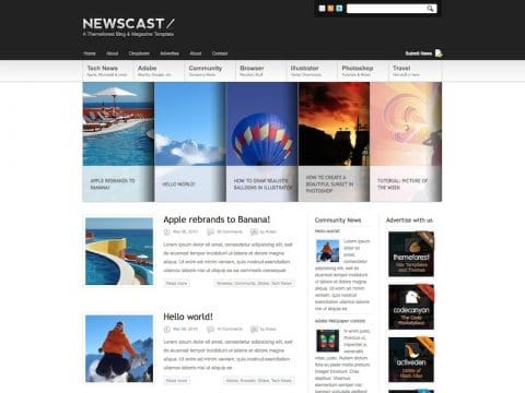 Newscast WordPress Blog Theme