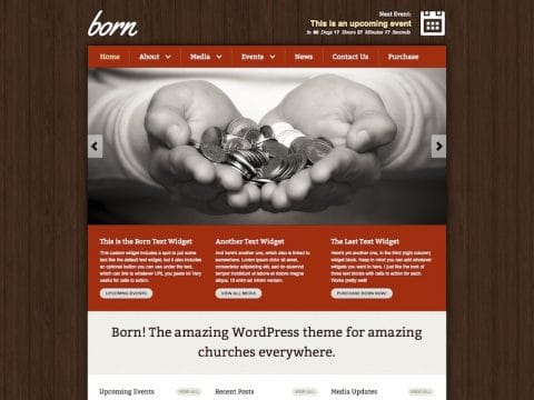 Born Church WordPress Theme