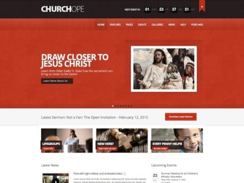 ChurcHope Church WordPress Theme