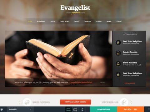 Evangelist Church WP Theme