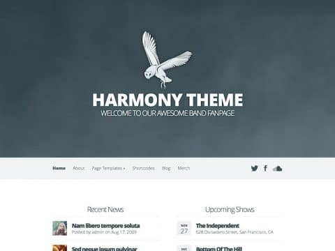 Harmony Multimedia WP Theme
