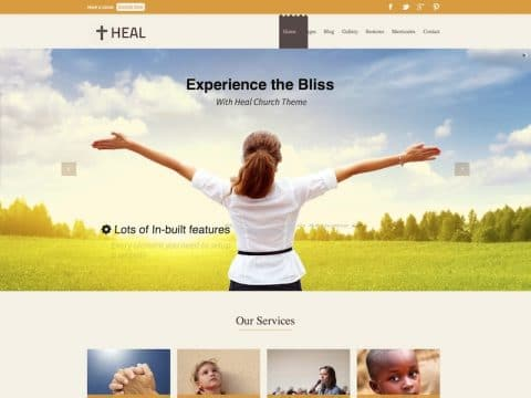 Heal Church WordPress Theme