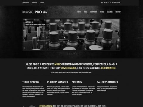 Music Pro WordPress Theme