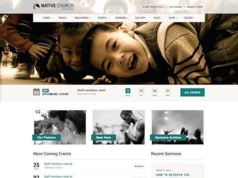 NativeChurch WordPress Theme