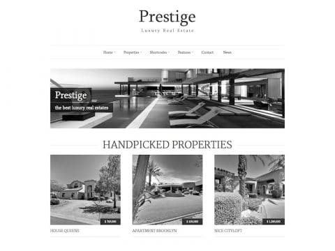 Prestige Real Estate WP Theme