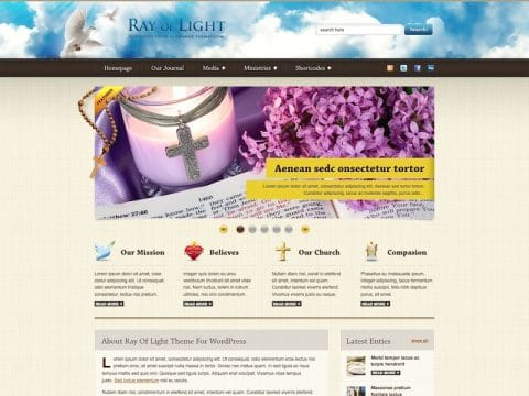 Ray Of Light Church WP Theme