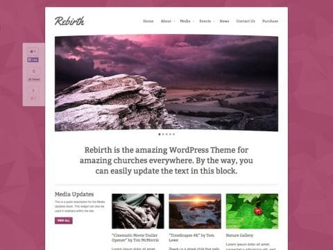 Rebirth Church WordPress Theme