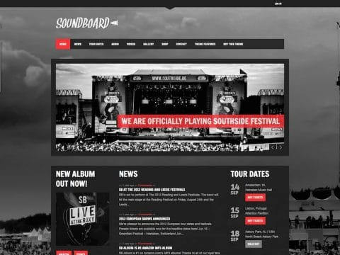Soundboard Music WP Theme