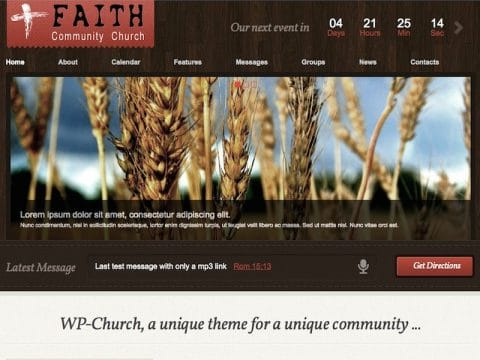 WP-Church WordPress Theme
