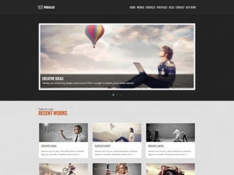 907 Parallax WordPress Theme