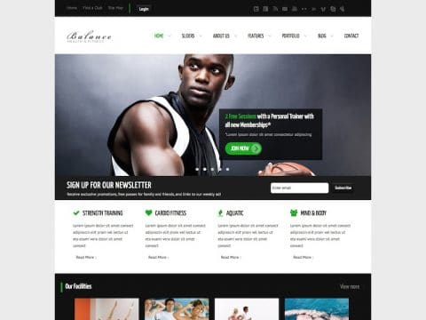 Balance Fitness WP Theme
