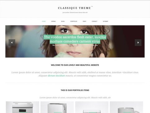 Classique Photography WordPress Theme