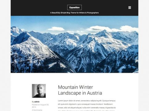 Exposition Blog WordPress Theme