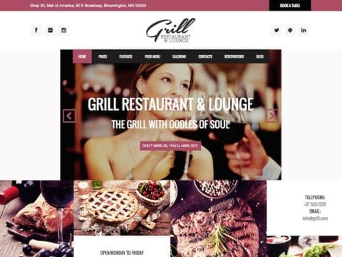 Grill Restaurant WP Theme