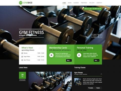 GymBase WordPress Theme