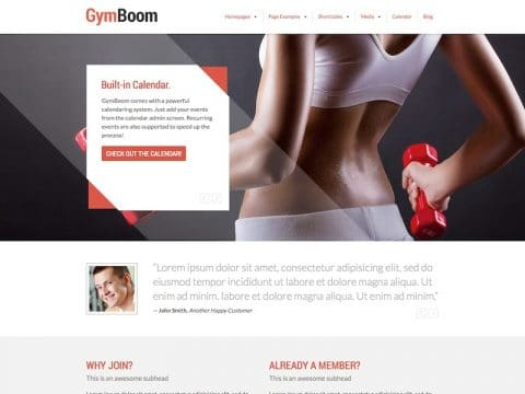 GymBoom WP Theme