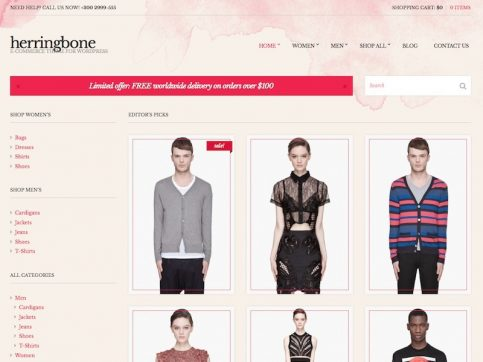 Herringbone eCommerce WordPress Theme