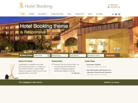 HotelBooking WP Theme