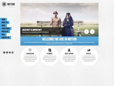 IN-MOTION WordPress Theme