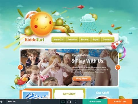 KiddoTurf WP Theme