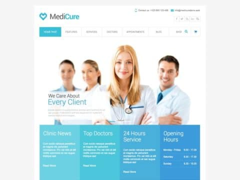 MediCure Medical WP Theme