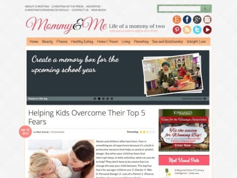 Mommy and Me WP Theme