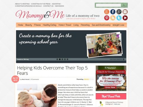 Mommy and Me Blogging WordPress Theme