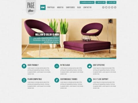 PageFlow WordPress Theme