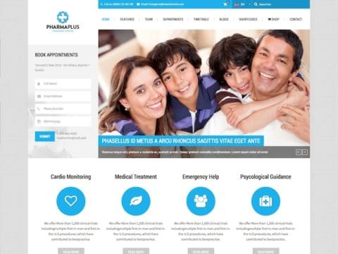 PharmaPlus Medical WP Theme