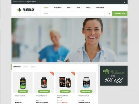 Pharmacy Medical WP Theme
