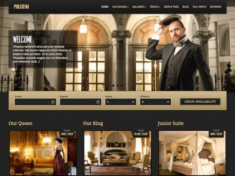 Philoxenia Hotel WordPress Theme